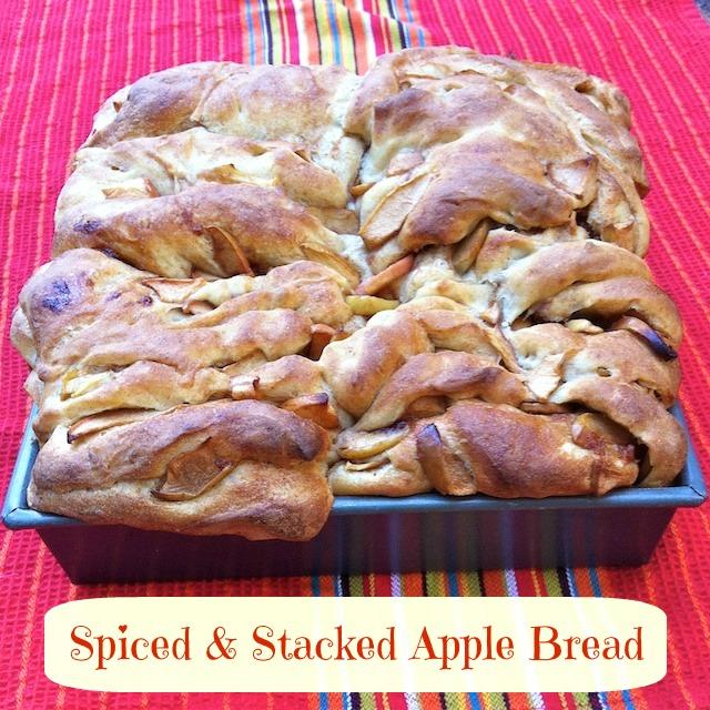 Spiced & Stacked Apple Bread   TeaspoonofSpice.com