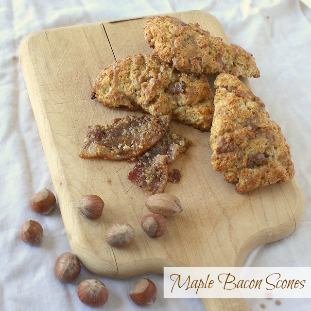 Maple Bacon Scones | Teaspoonofspice.com