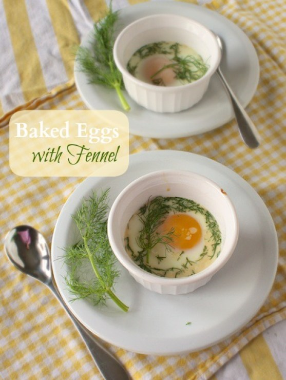 Baked Eggs with Fennel | Teaspoonofspice.com