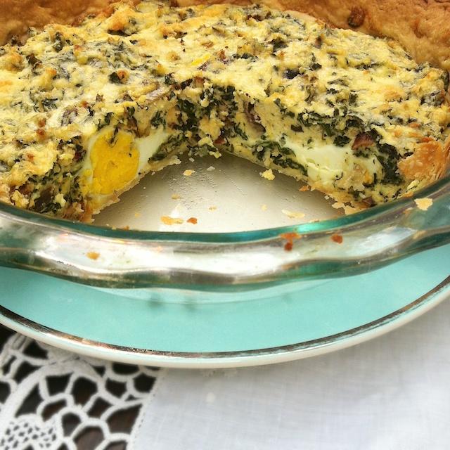 Egg & Swiss Chard Italian Easter Pie | Teaspoonofspice.com