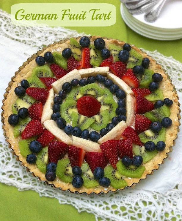 German Fruit Tart | Teaspoonofspice.com