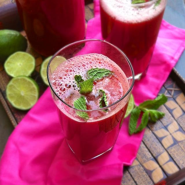 Watermelon Mojitos | Teaspoonofspice.com
