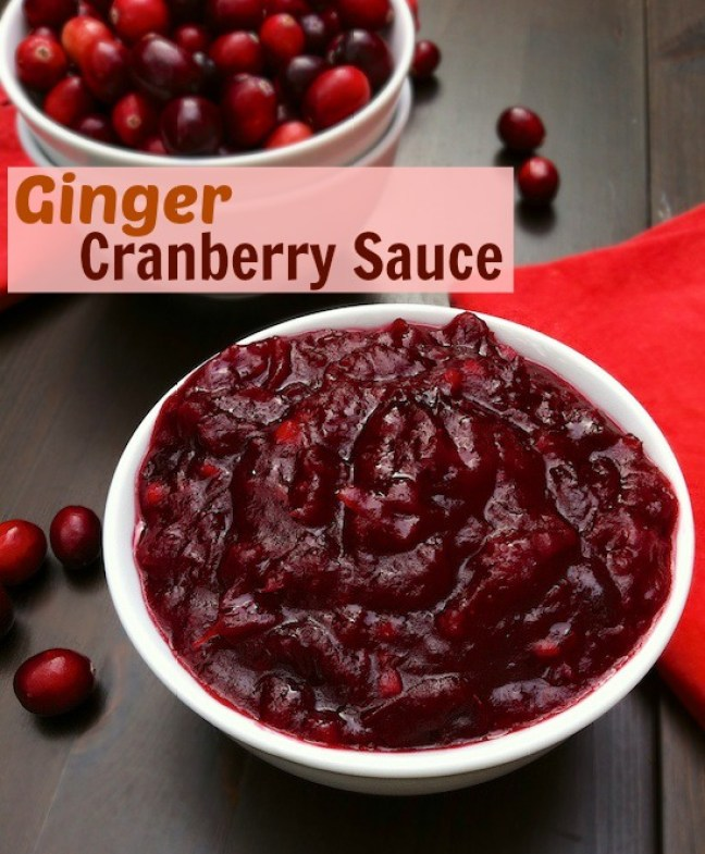 Ginger Cranberry Sauce | Teaspoonofspice.com