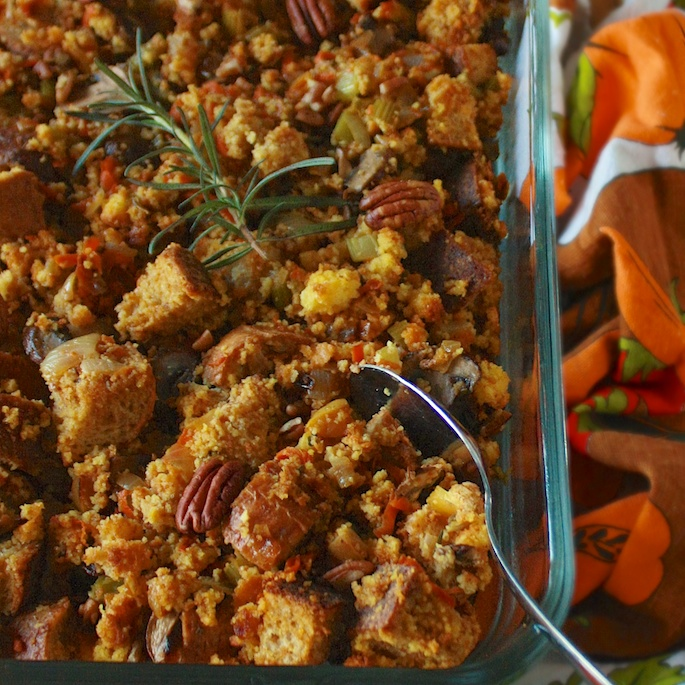 How to Make Vegetarian Stuffing | Teaspoonofspice.com