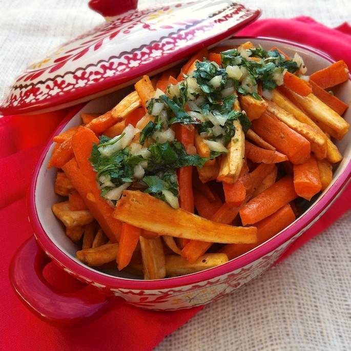 Roasted Carrot Parsnips Cilantro Salsa | Teaspoonofspice.com