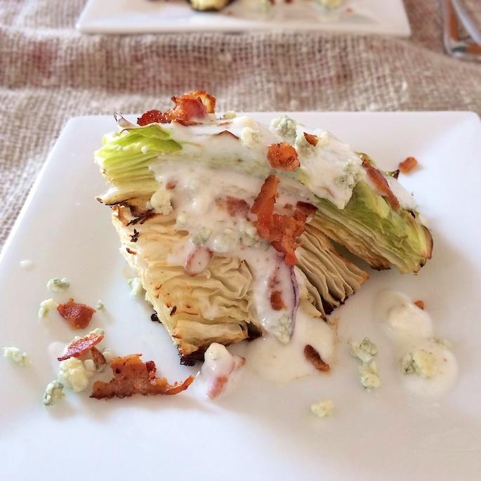 Roasted Cabbage Wedge Salad   Teaspoonofspice.com