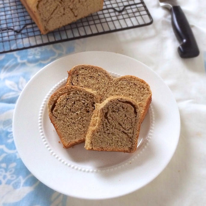 Whole Grain Cinnamon Roll Bread |Teaspoonofspice.com