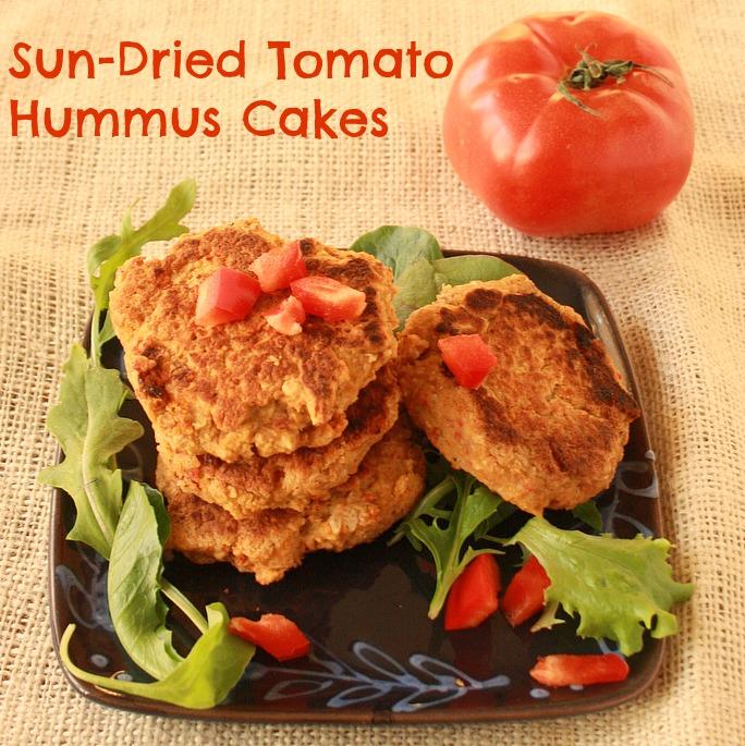 Sun-Dried Tomato Hummus Cakes 3