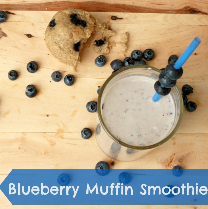 Blueberry Muffin Smoothie | TeaspoonOfSpice.com