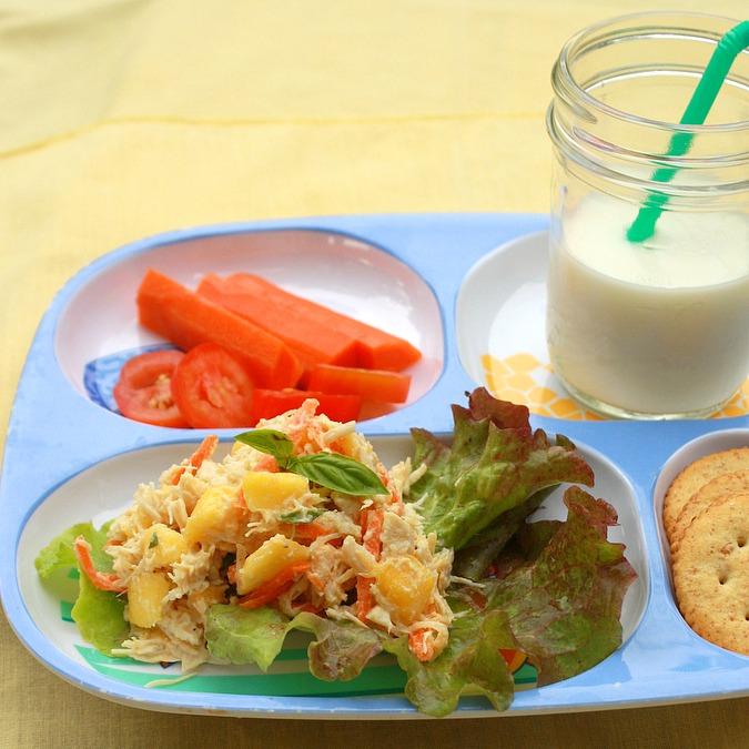 Creamy Basil Chicken Salad | TeaspoonOfSpice.com