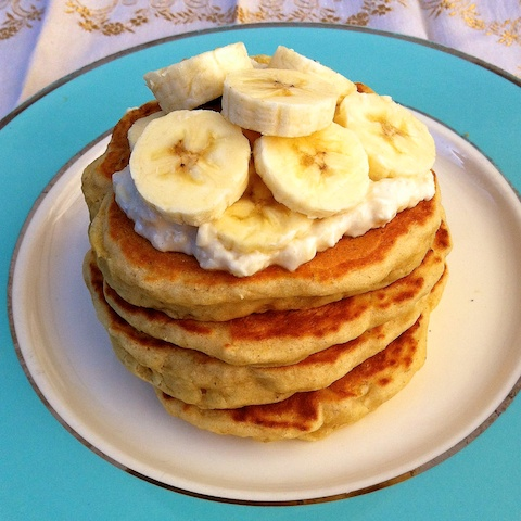 Roasted Bananas Foster Pancakes