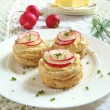 Salt & Butter Radishes on Chive Biscuits