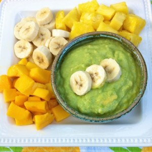 Avocado Vanilla Fruit Dip
