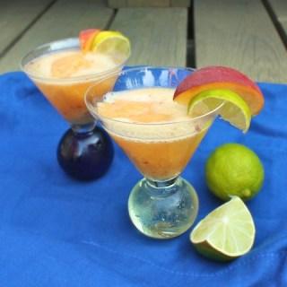 Peach Sorbet Prosecco Cocktail