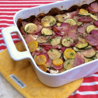 Potato Summer Squash Gratin