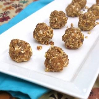 Fig & Pecan No Bake Bites | TeaspoonofSpice.com