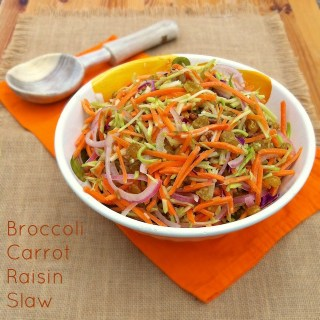 Broccoli Carrot Raisin Slaw