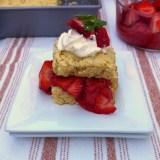 Light Rhubarb Strawberry Shortcake | Teaspoonofspice.com