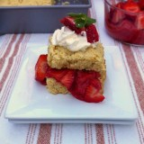Light Rhubarb Strawberry Shortcake | Teaspoonofspice.com