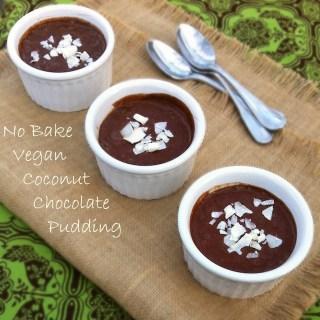 No Bake Vegan Coconut Chocolate Pudding | Teaspoonofspice.com