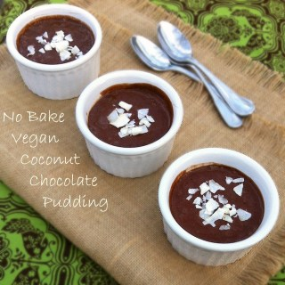 No Bake Vegan Coconut Chocolate Pudding