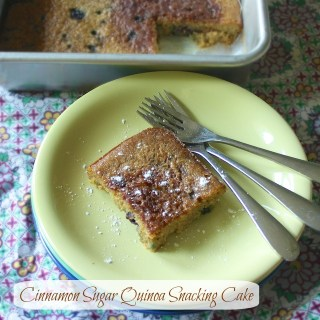 Cinnamon Sugar Quinoa Snacking Cake