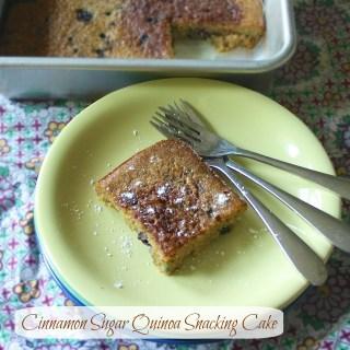 Cinnamon Sugar Quinoa Snacking Cake   Teaspoonofspice.com