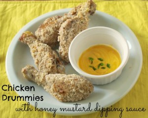 Chicken Drummies with Honey Mustard Dipping Sauce | The Recipe ReDux