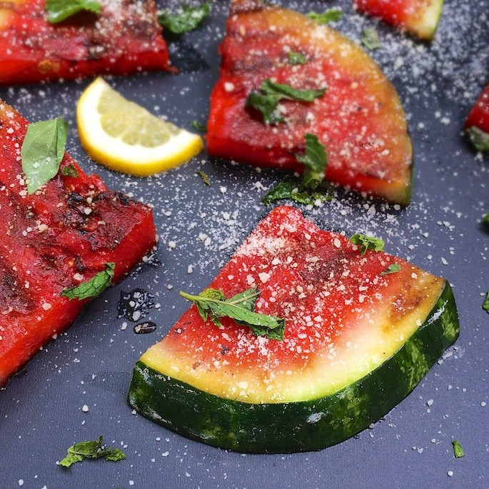 Up the flavor of your watermelon and grill it! Recipe at Teaspoonofspice.com