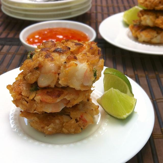 Potato Chip Shrimp Cakes | Teaspoonofspice.com