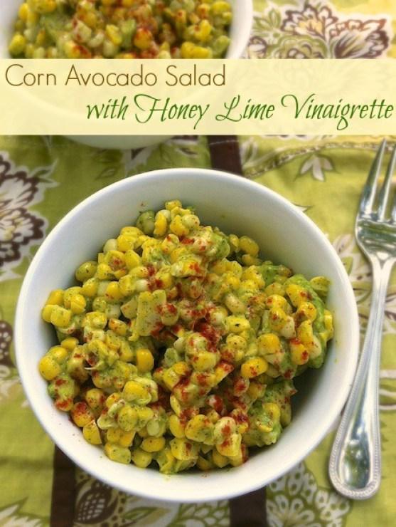 ... teaspoonofspice.com/corn-avocado-salad-with-honey-lime-vinaigrette