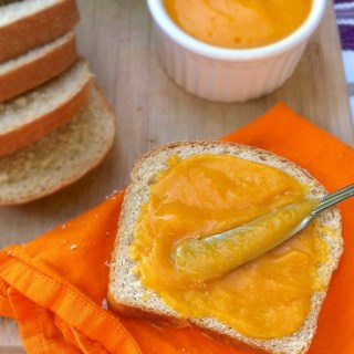 Maple Honey Wheat Bread with Apricot Spread