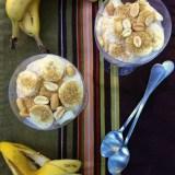 Whipped Peanut Butter & Banana Parfaits | Teaspoonofspice.com
