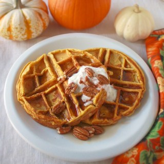 Maple Pecan Pumpkin Waffles
