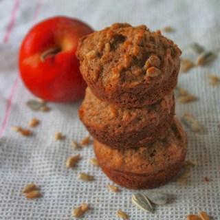 Sunflower Seed Apple Muffins | Teaspoonofspice.com
