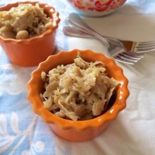 Kapusta (Braised Sauerkraut) | Teaspoonofspice.com