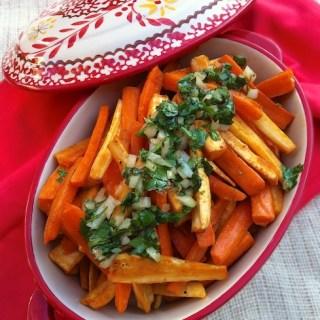 Roasted Carrot Parsnips Cilantro Salsa   Teaspoonofspice.com
