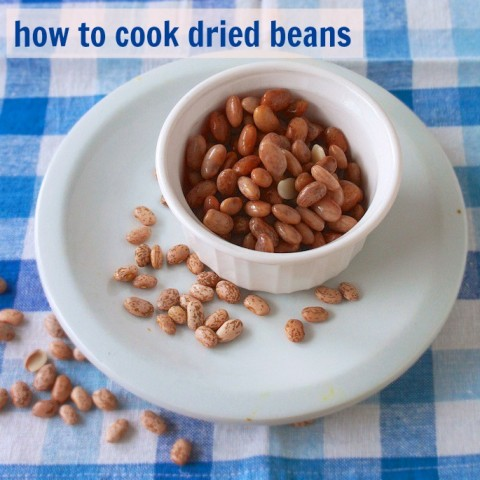How to Cook Dried Beans. It's easy to cook dry beans - and so budget friendly. Here are all the tricks for quick beans. | For more #HealthyKitchenHacks