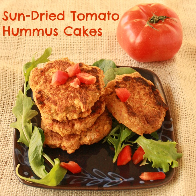 Sun-Dried Tomato Hummus Cakes | The Recipe ReDux
