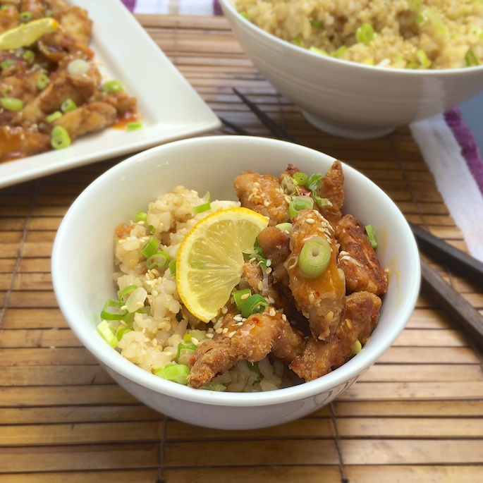 Chinese style baked lemon chicken with sesame rice how to make baked lemon chicken healthy recipe forumfinder Images