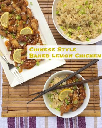 Chinese Style Baked Lemon Chicken | Teaspoonofspice.com