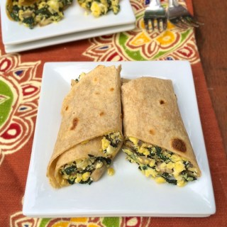 Whip up this egg breakfast burrito after a long race