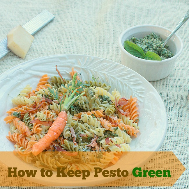 How to Keep Pesto Green