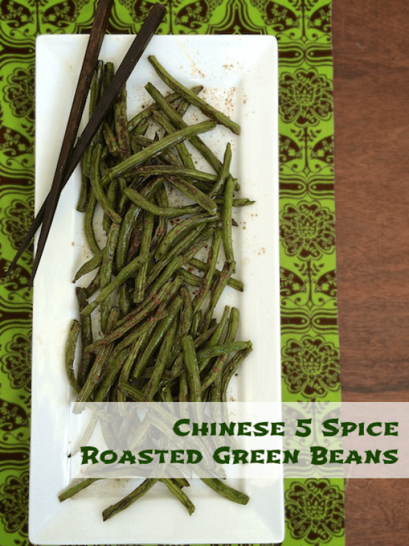 A twist on your Thanksgiving green beans - flavor with Chinese 5 Spice powder!