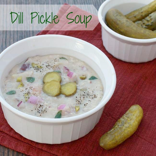 Dill Pickle Soup - TeaspoonOfSpice.com