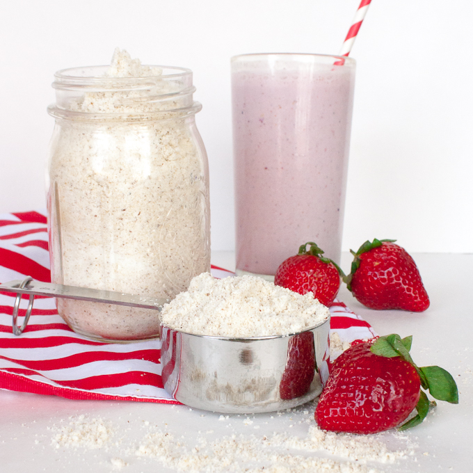Only 3 ingredients, you probably have on hand: HOW TO MAKE HOMEMADE PROTEIN POWDER | @TspCurry - For more healthy recipes: TeaspoonOfSpice.com