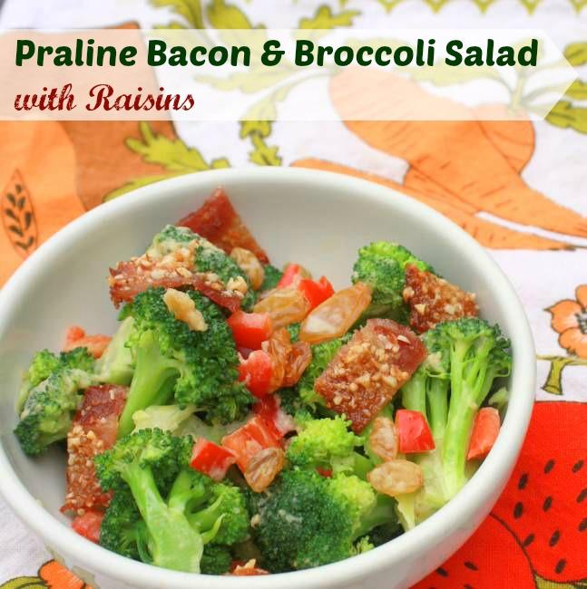Praline Bacon and Broccoli Salad Broccoli and Bacon Salad | TeaspoonOfSpice.com