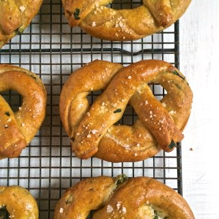 Spinach Cheddar Soft Pretzels | The Recipe ReDux