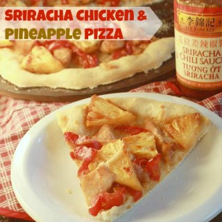 Sriracha Chicken & Pineapple Pizza | TeaspoonOfSpice.com