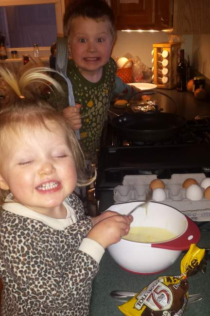 how to make pancakes with kids